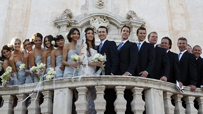 Tom Waterhouse married Hoda Vakili in Italy in 2011. Photo: Supplied