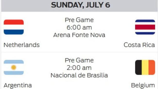 And the games on Sunday morning.