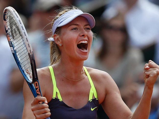 Russia's Maria Sharapova will take on Serena Williams in the French Open final.