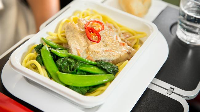 Qantas has upgraded its international economy food service — with an emphasis on taste and presentation. Picture: Supplied