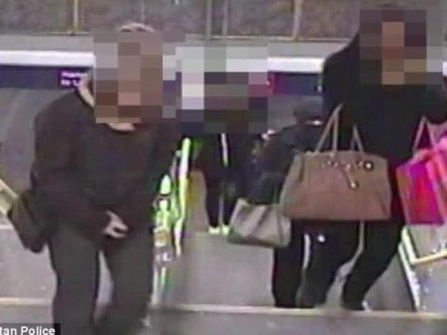 CCTV footage shows Naomi Oni being followed by Mary Konye at Barking station.