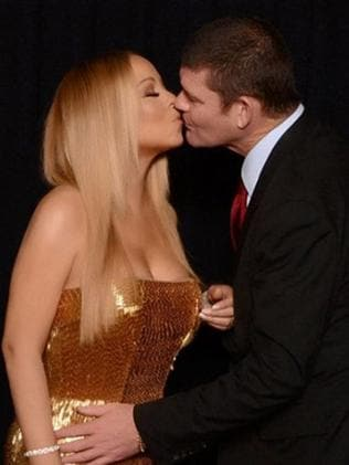 On display ... Valentine's Day Instagram post of Mariah Carey and James Packer kissing. Picture: Mariah Carey Instagram