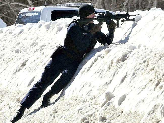 Guns drawn ... things got serious pretty quickly in Norridgewock. Pic: David Leaming.