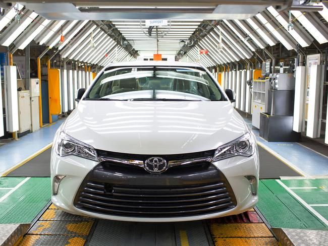Popular model ... the Toyota Camry coming off the line at the company's Altona factory.