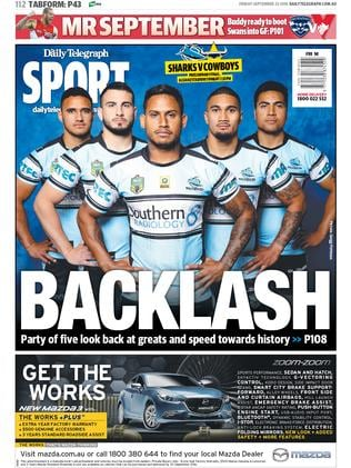 Today's sport back page.