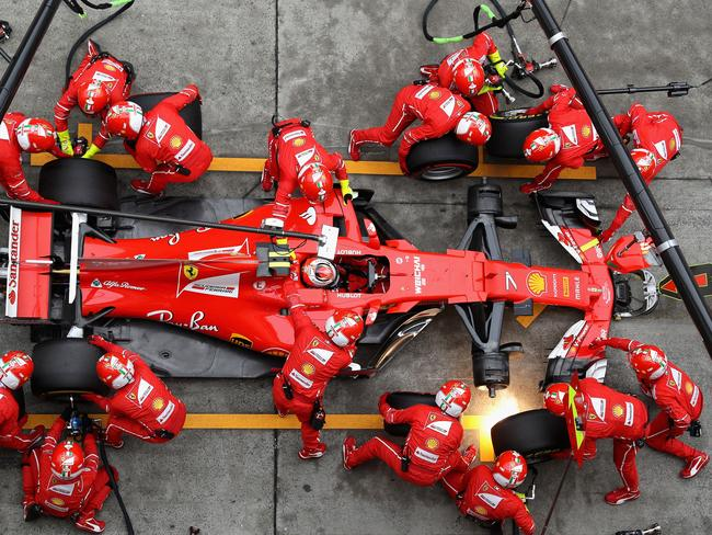 There were a few pit dramas for Kimi Raikkonen at the Chinese Grand Prix.