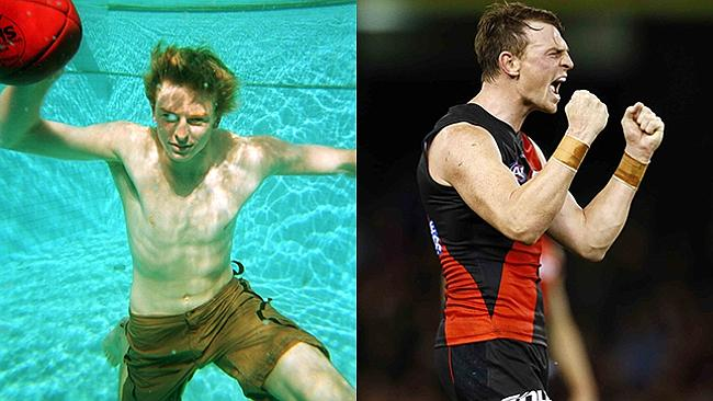 Brendon Goddard can be an angry man on the footy field, and he can hold his own a lot better now than when he was drafted with the No. 1 pick in 2002.