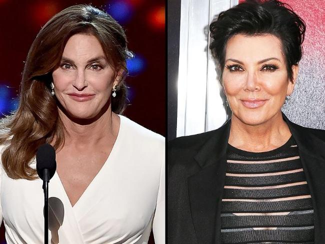 Rob Kardashian mocked his mother Kris Jenner's (right) marriage to Caitlyn Jenner (left), formerly Bruce Jenner. Picture: Supplied
