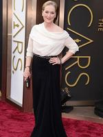 Meryl Streep on the red carpet at the Oscars 2014. Picture: AP