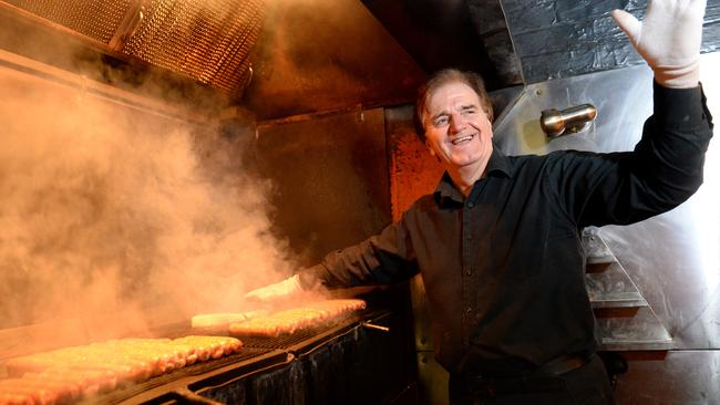 Ivan Glavas cooks up a storm on the grill. Picture: Kylie Else