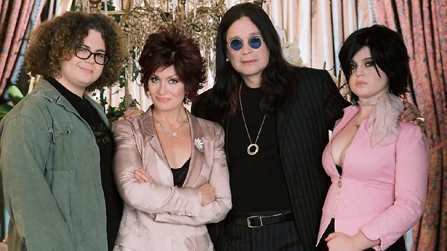 """Jack, Sharon, Ozzy and Kelly Osbourne. Kelly has described herself as """"an addict"""" like her father and revealed that her mum, Sharon, locked her in a padded cell once."""