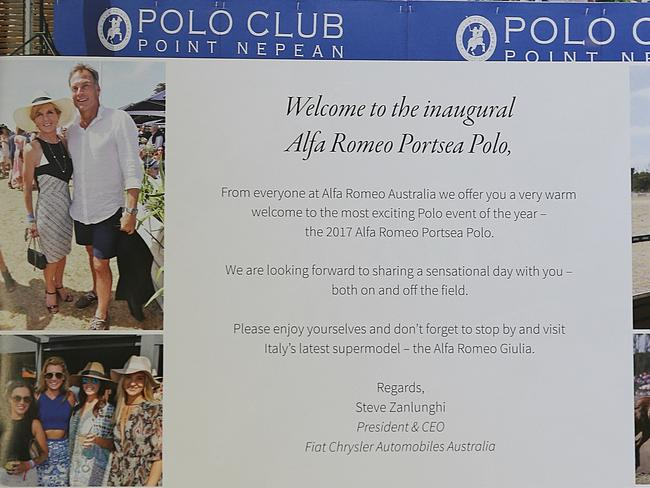Portsea Polo program. Picture: Julie Kiriacoudis