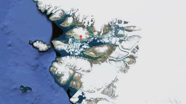 Cooma currently colder than this place near the North Pole, surrounded by icebergs. Picture: Google Maps.