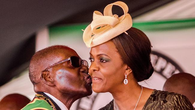 Mnangagwa's dismissal left Zimbabwe president Robert Mugabe's wife Grace, 52, in prime position to succeed her husband as the next president despite strong opposition by senior ranks in the military. Picture: AFP / Jekesai Njikizana.