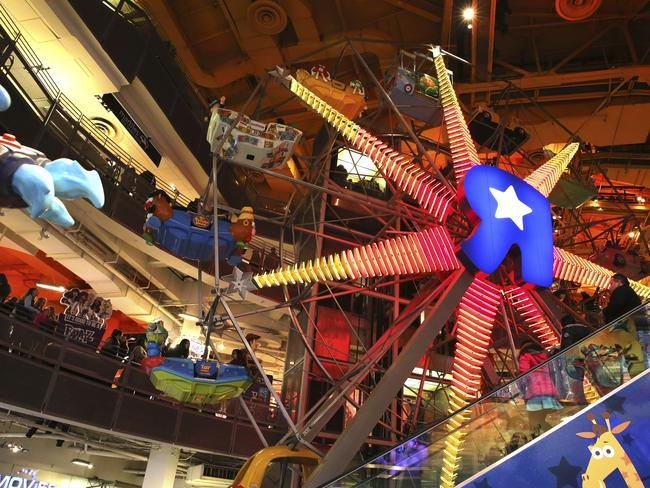 The Ferris Wheel at the Toys R Us store in New York's Times Square. Picture: AP