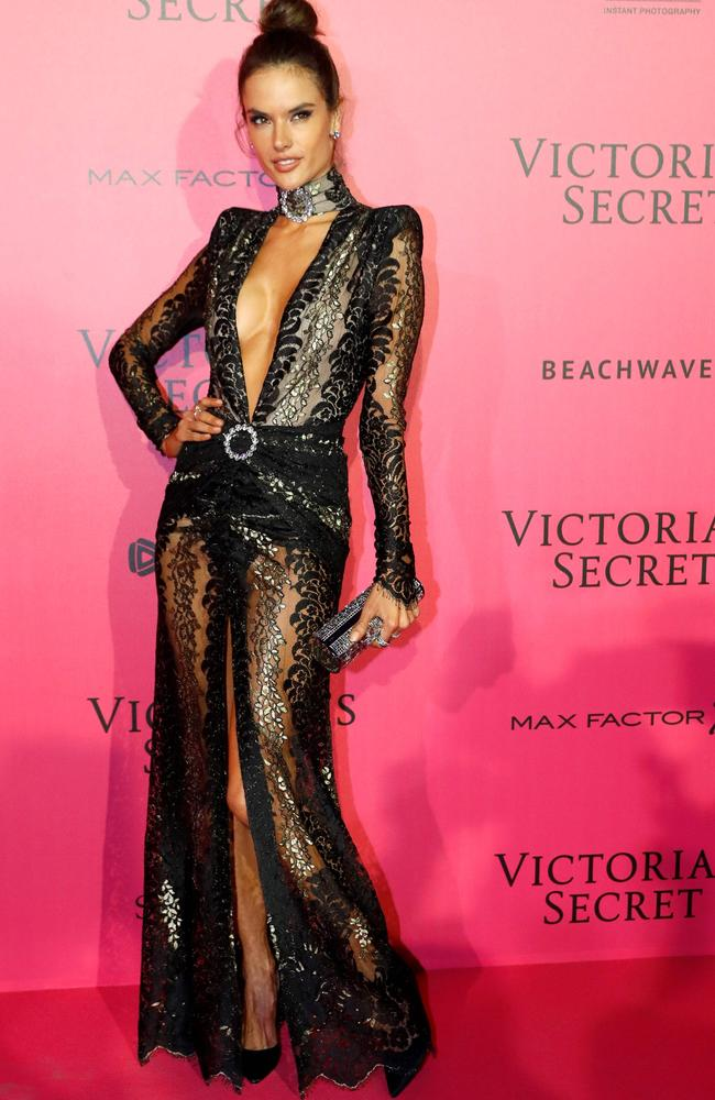 Brazilian model Alessandra Ambrosio at the VS after-party. Picture: AFP.