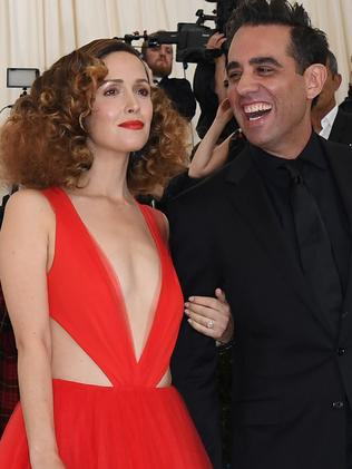 Rose Byrne, with partner Bobby Cannavale, brings in about $10 for every $1 she gets paid. Picture: AFP