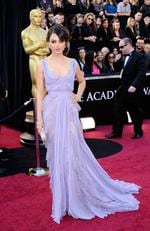Mila Kunis shunned the mermaid-dress craze at the 83rd Annual Academy Awards wearing a high waisted Elie Saab lavender gown. Picture: Kevork Djansezian/Getty Images