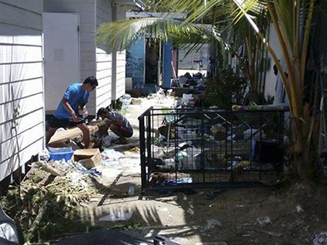 The ransacked immigration camp on Manus Island, Papua New Guinea. Picture: Refugee Action Coalition via AP