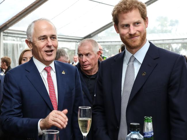 PM Malcolm Turnbull and HRH Prince Harry at Invictus Games Sydney 2018 launch. Picture: Invictus Games Sydney 2018