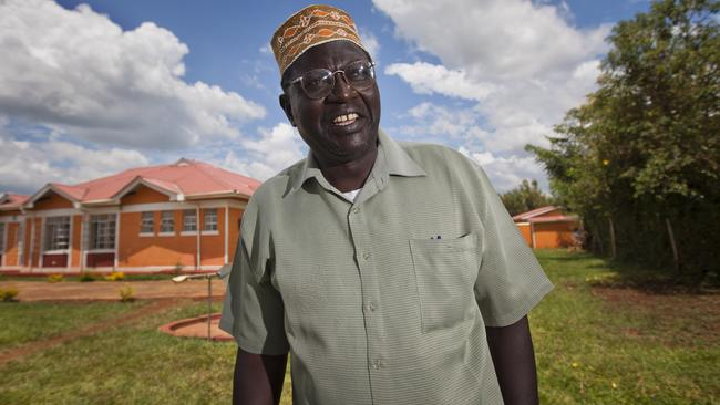Malik Obama, half-brother of President Barack Obama, poses for photographs in the village of Kogelo where he lives in western Kenya. Picture: Ben Curtis