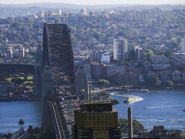 View of the Sydney Harbour Bridge. The Sydney Opera House sits to the right. Picture: Dylan Robinson