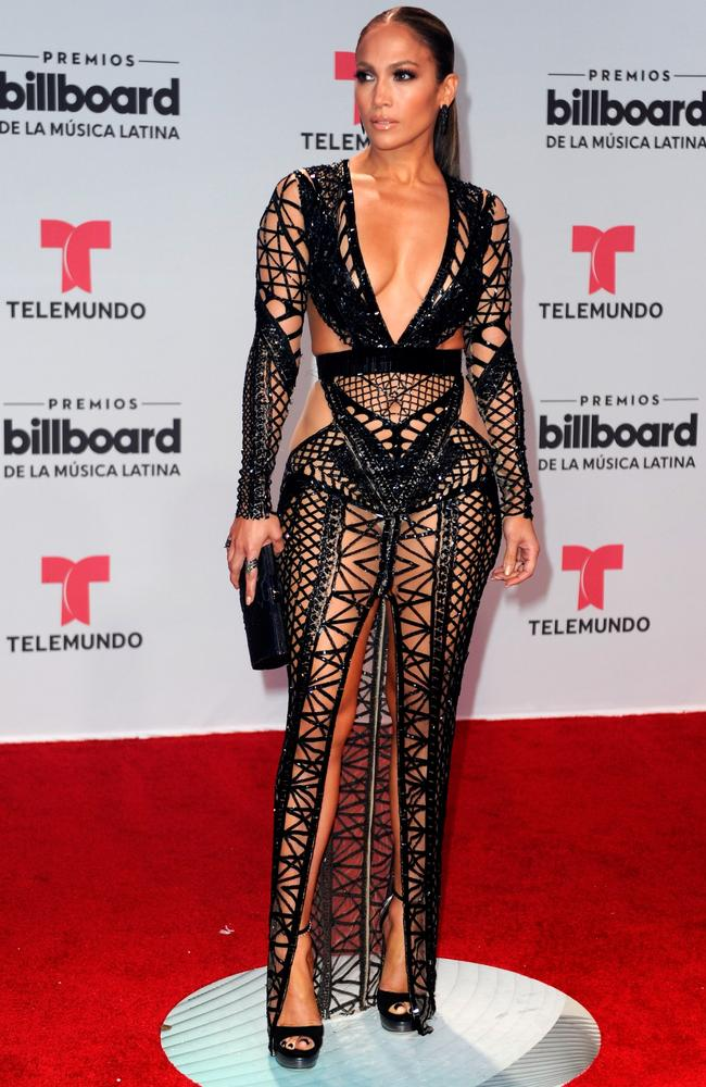 Jennifer Lopez Flashes A Lot Of Flesh On The Red Carpet
