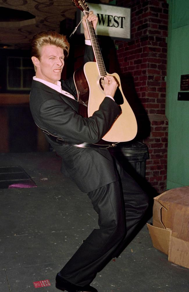 Let's dance ... David Bowie, pictured in 1990, has a string of broken records after his death including for views of his videos on Vevo. Picture: AFP
