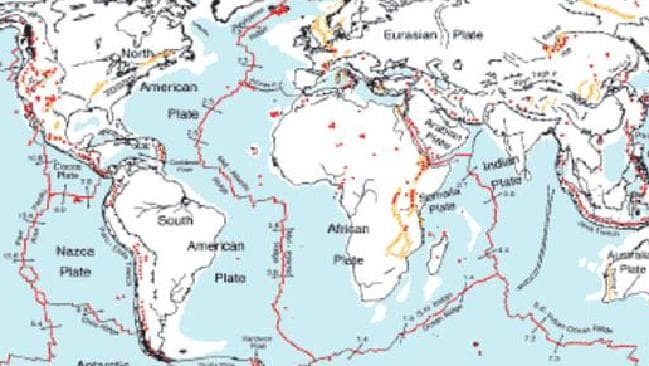 Tectonic Plates Map Fills M Year Gap In Earths History Video - Plate tectonics map