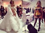 """Victoria's Secret Fashion Show 2013: Angel Magdalena Frackowiak shares snaps of her 'Birds of paradise' and 'Snow angel"""" costumes. Picture: Instagram"""