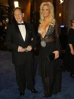 Geoffrey Edelsten and Brynne Gordon at the 2009 Brownlow Medal. Picture: Fiona Hamilton