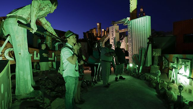 On Saturday, the museum unveiled nighttime hours. Picture: AP
