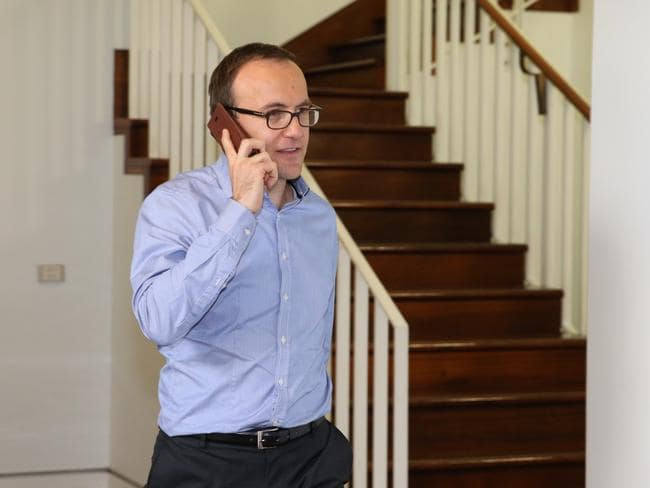 Greens MP Adam Bandt in the corridors before the vote. Picture: Kym Smith