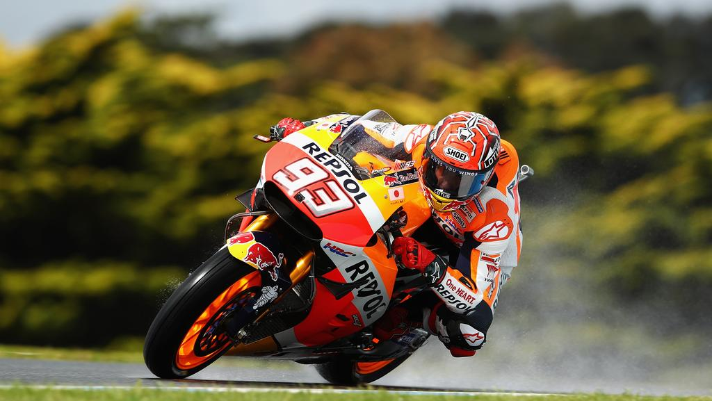 Marc Marquez is gunning for back-to-back MotoGP titles this season — a win would give him a fourth championship victory. Picture: Getty Images