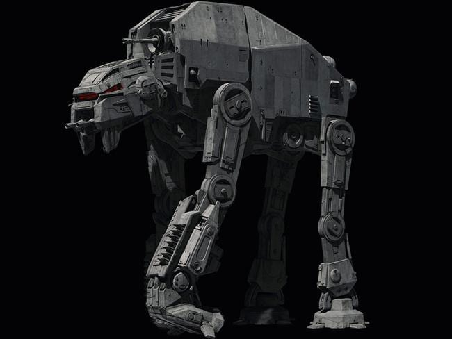 The latest incarnation of the Walker, the First Order's AT-M6, includes many modifications over the Imperial original.