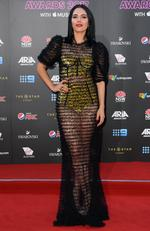 George Maple arrives on the red carpet for the 31st Annual ARIA Awards 2017 at The Star on November 28, 2017 in Sydney, Australia. Picture: AAP