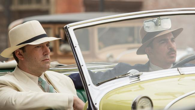Ben Affleck as Joe Coughlin and Chris Messina as Dion Bartolo in a scene from  <i>Live by Night</i>.
