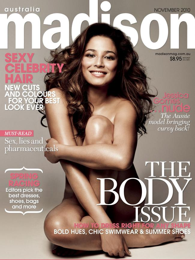 Jessica Gomes on the cover of Madison, 2010.