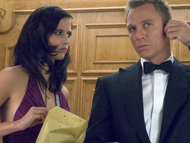 Daniel Craig and Eva Green playing James Bond and Vesper Lynd in Casino Royale. Picture: AFP