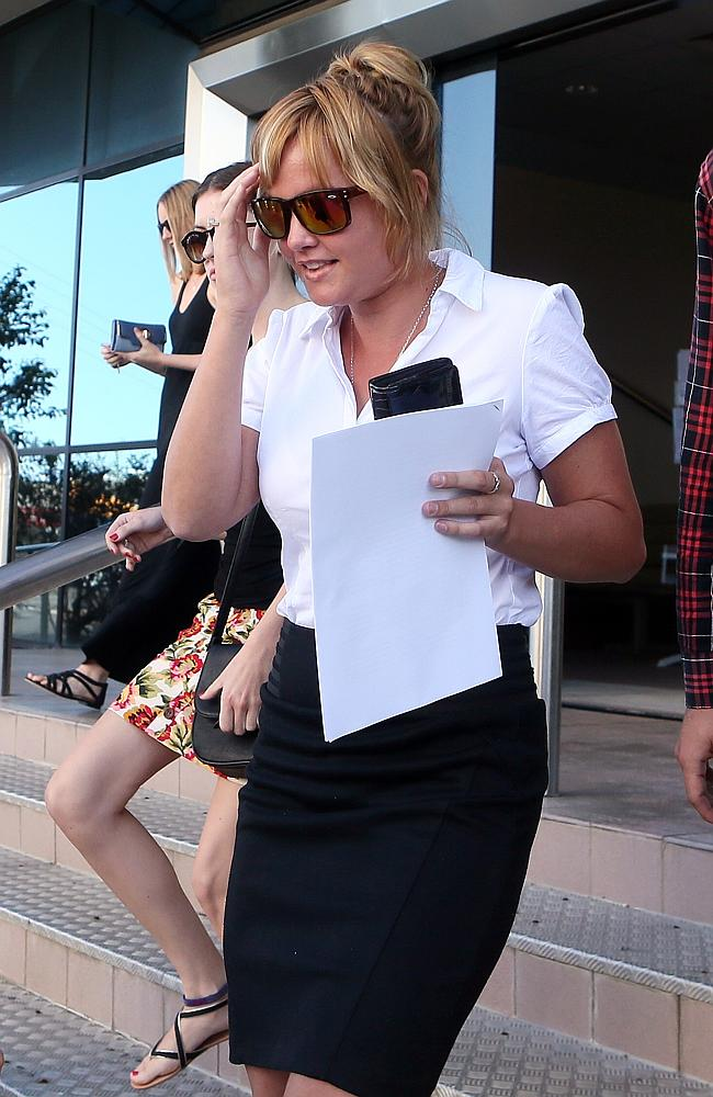 Samantha leaving Maroochydore Court after her mother Dorothy Barnett was refused bail.