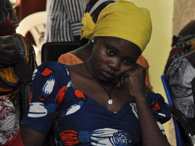 Pain in her eyes: One of the recently freed girls from Chibok.