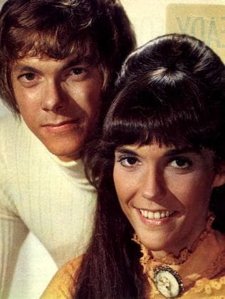 Karen Carpenter with her brother, Richard Carpenter. Picture: Supplied