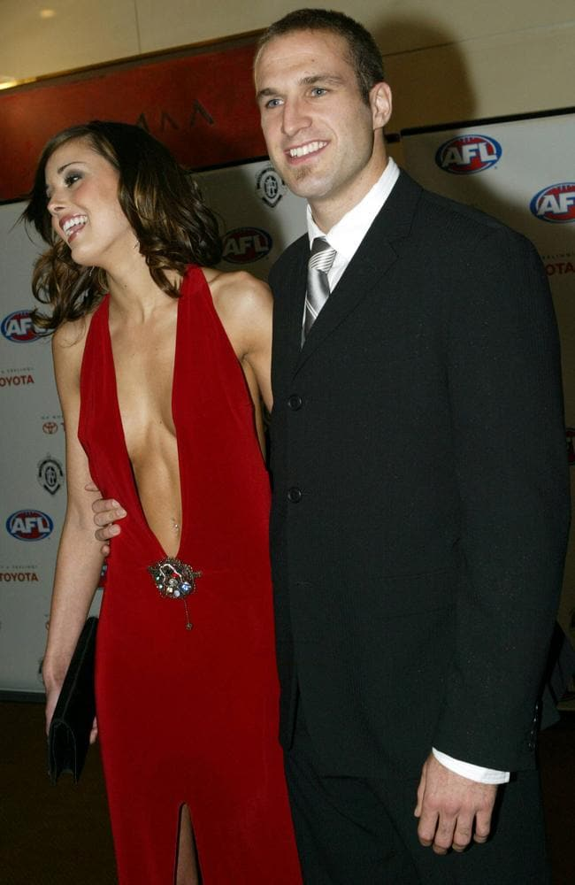 2004 Brownlow Medal Awards — Rebecca Twigley and Chris Judd arriving.