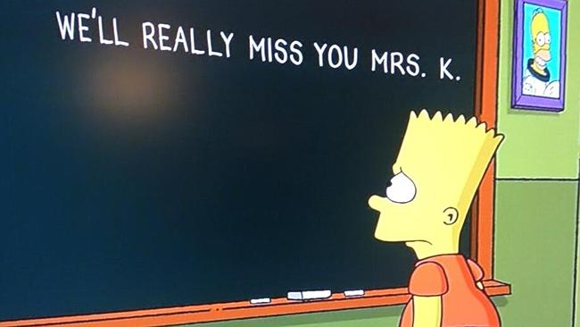 The Simpsons paid tribute to late actor Marcia Wallace with this message.