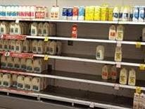Shoppers' fury over milk shortage