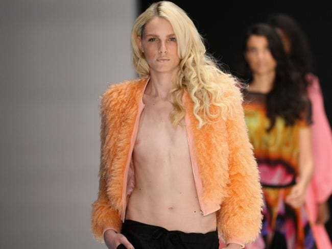 Andrej Pejic as a male model before gender reassignment surgery. She now goes by the name Andreja Pejic. Picture: Adam Berry/Getty Images