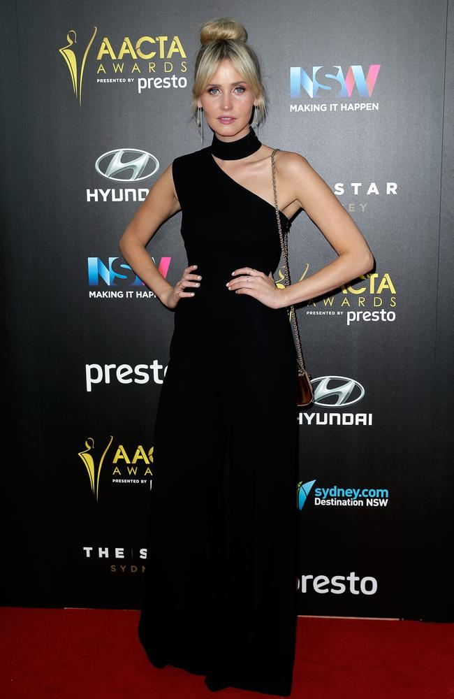 Anna Bamford arrives ahead of the 5th AACTA Awards Presented by Presto at The Star on December 9, 2015 in Sydney, Australia. Picture: Getty