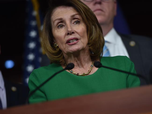 "US House Minority Leader Nancy Pelosi said the failure of the bill was ""a victory for the American people."" Picture: AFP/Nicholas Kamm"
