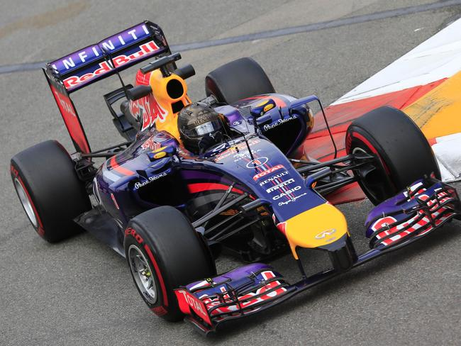 Sebastian Vettel in action for Red Bull.