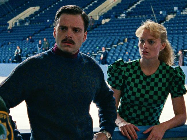 Margot Robbie and Sebastian Stan in a scene from I, Tonya. Robbie scored her first Oscar nomination for the performance. Picture: Neon via AP